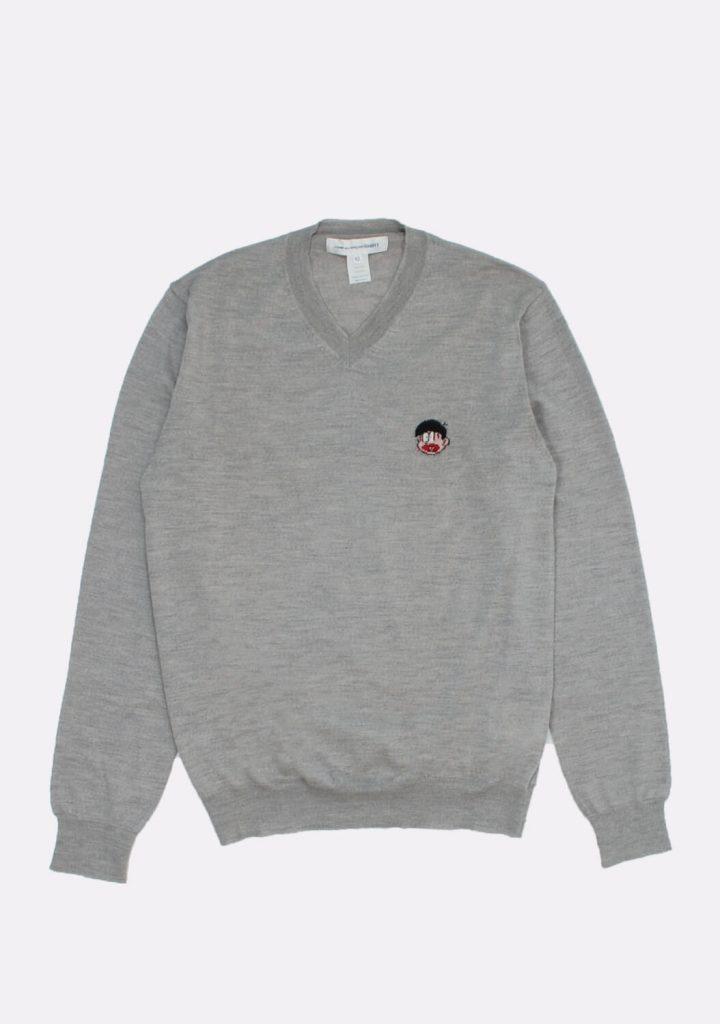 comme-des-garcons-light-v-neck-sweater