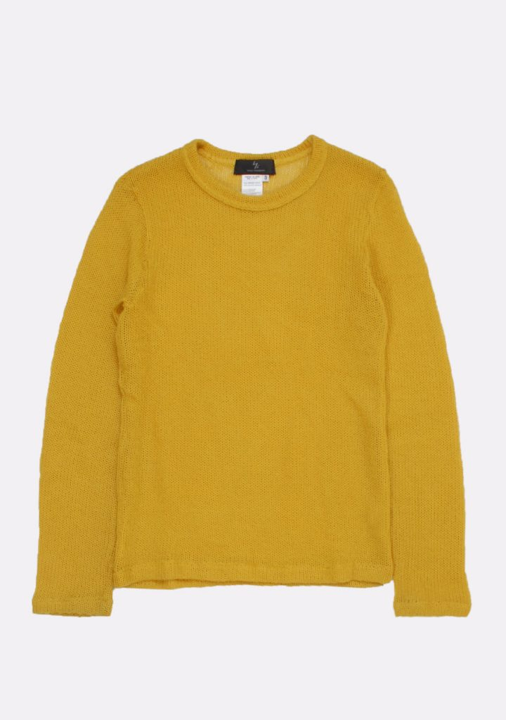 yohji-yamamoto-yellow-color-sweater