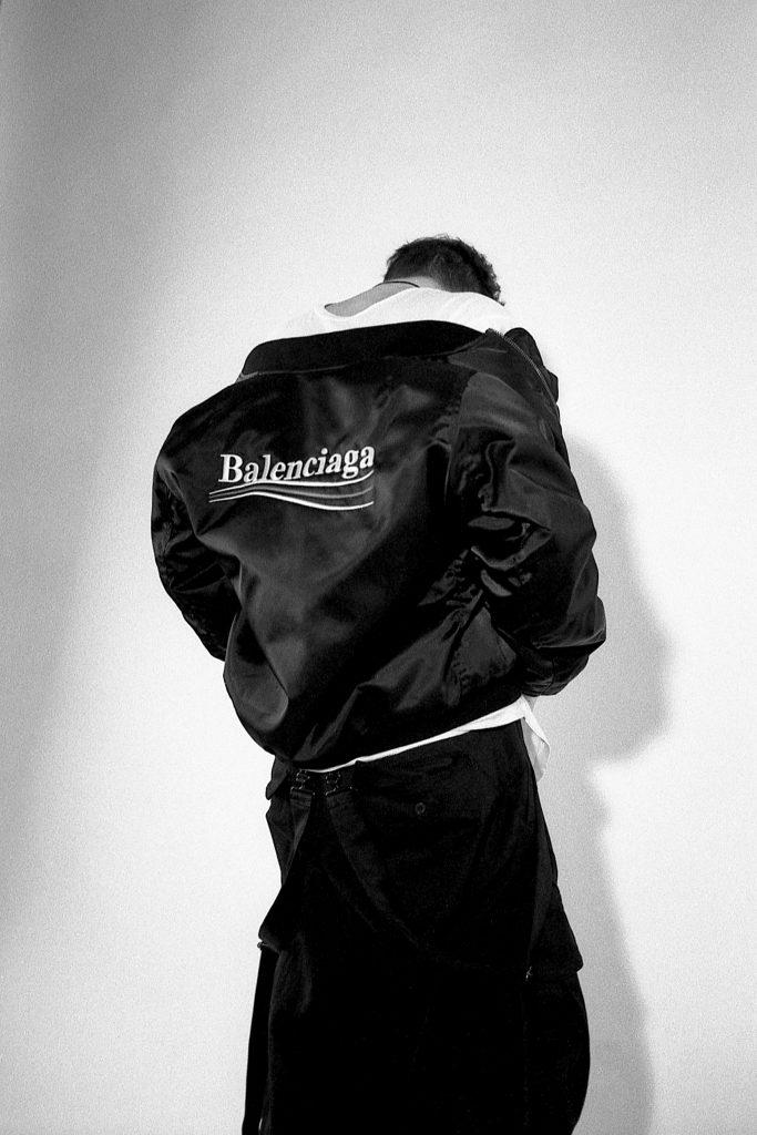 Balenciaga bomber yamamoto jumpsuit