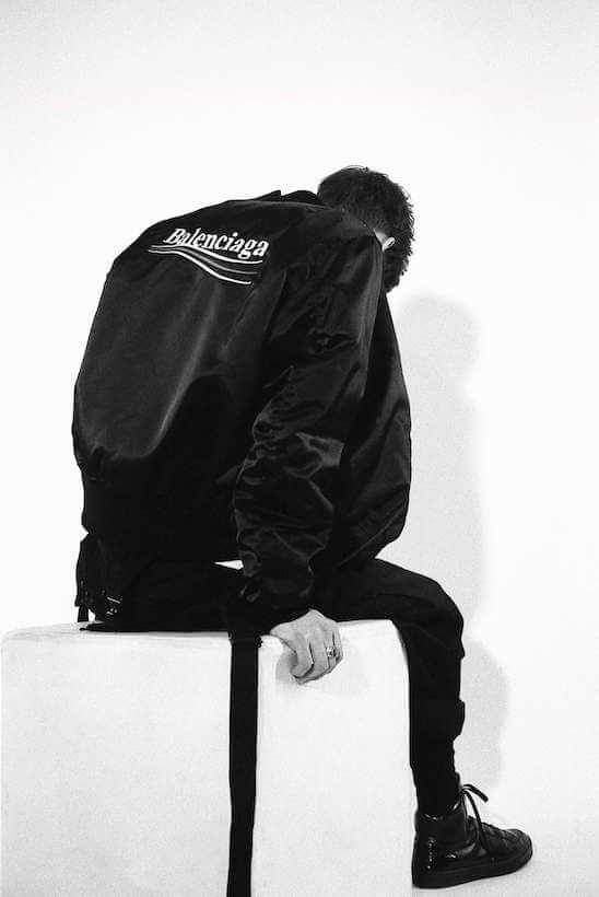 balenciaga-black-bomber-jacket-size-m-l-xl