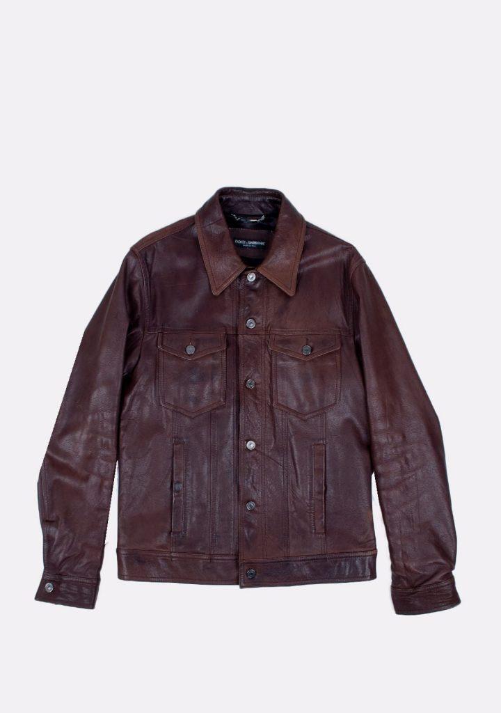 dolcegabbana-preloved-brown-leather-jacket