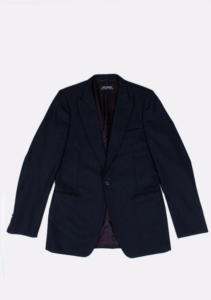 raf-simons-preloved-black-color-wool-blazer